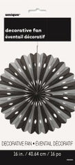 Black & Silver Decorative Fan