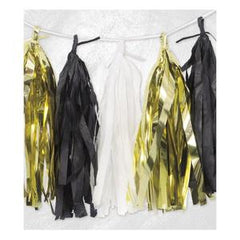 Gold & Black Tassel Garland