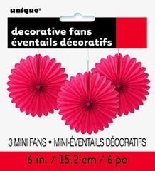 Red Mini Decorative Fans