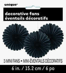 Black Mini Decorative Fans