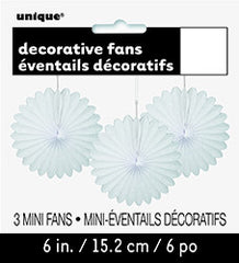 White Mini Decorative Fans
