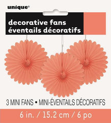 Coral Mini Decorative Fans