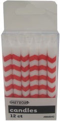 Red Chevron Candles