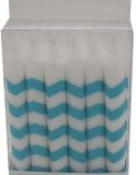 Teal Chevron Candles