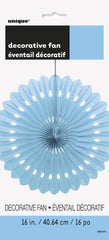 Light Blue Decorative Fan