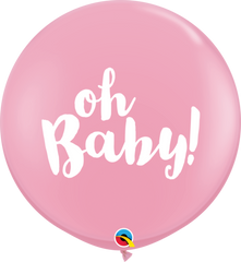 "36"" Pink Oh Baby Balloon"