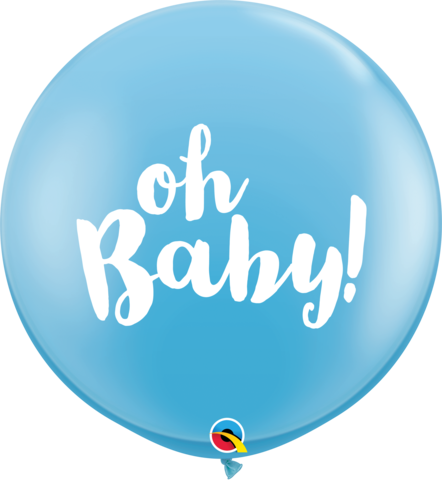 "36"" Blue Oh Baby Balloon"
