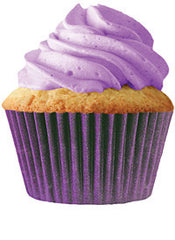 Plum Cupcake Wrappers