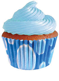 Mini Blue Dots Cupcake Wrappers