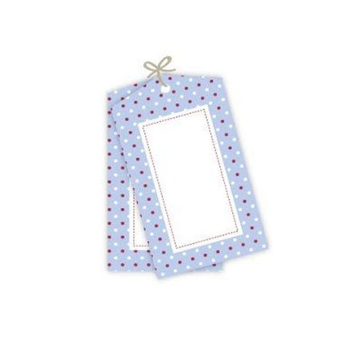 Multi Blue Polka Dot Tags