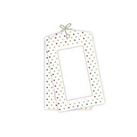 Multi Coloured Polka Dot Tags