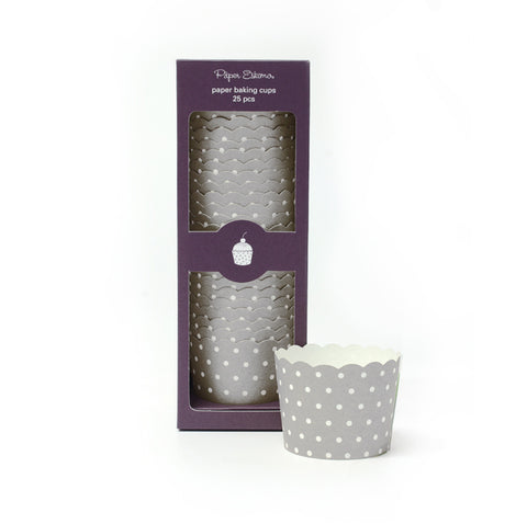 Baking Cup Silver Sundae Spots