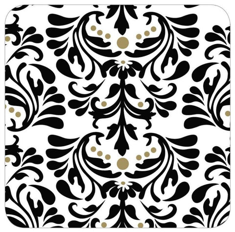 Black Damask Table Runner/Wrap