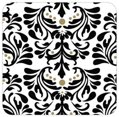 Black Damask Table Runner