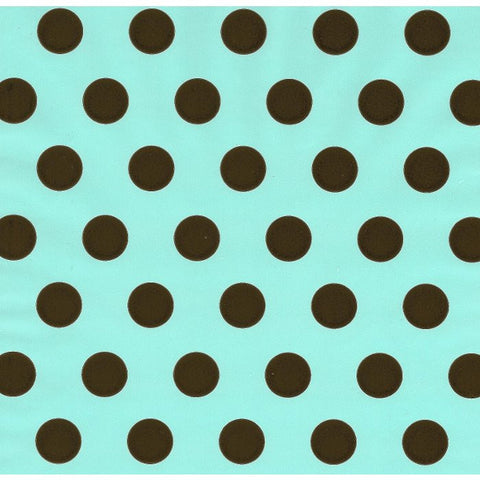 Blue with Chocolate Dot Table Runner