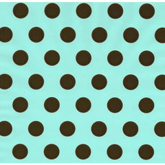 Aqua - Chocolate Dot Table Runner/Wrap