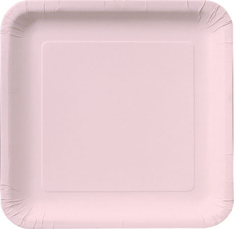 Classic Light Pink Paper Plates