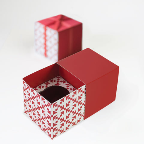 Cupcake Gift Box Aztec Red