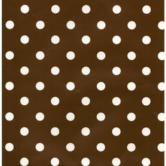 Brown Polkadot Table Runner/Wrap