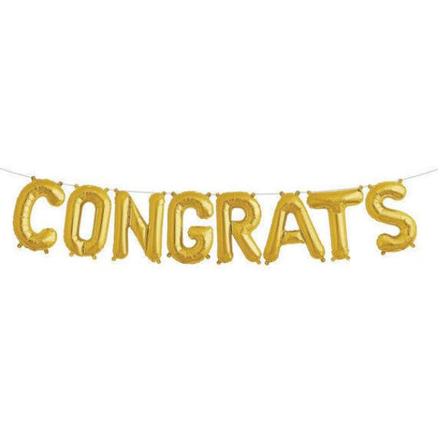 CONGRATS Gold Foil Balloon Kit