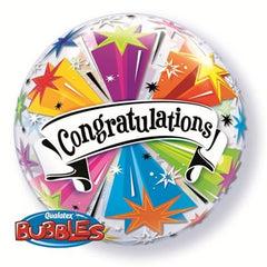 Congratulations Star Deco Bubble Balloon