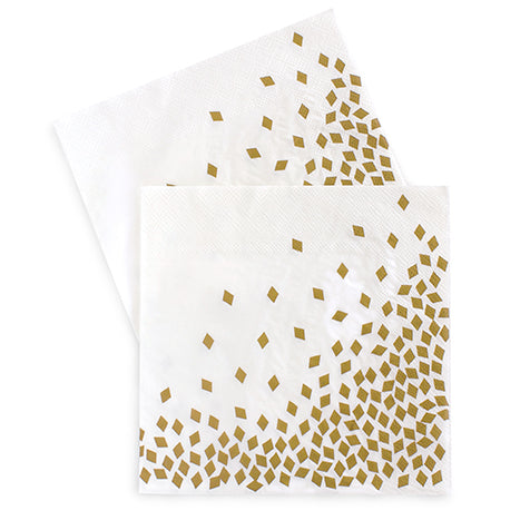 Dinner Napkins Geo Gold