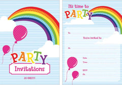 Rainbow Invitation Pad