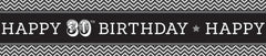 Black & White 30th Birthday Party Banner