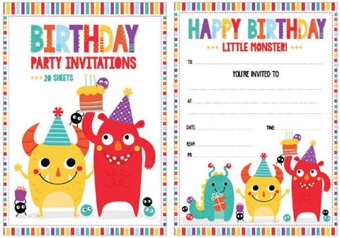 Monster Invitation Pad