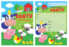 Farm Party Invitations Pad