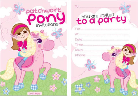 Patchwork Pony Invitation Pad