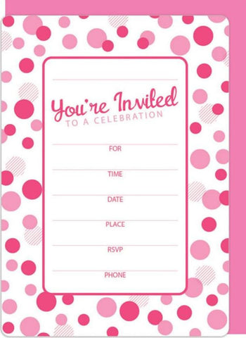 Pink Dots Invitation Kit