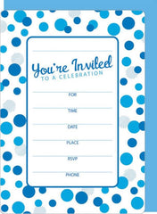 Blue Dots Invitation Kit