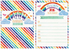 Rainbow & Clouds Invitation Pad