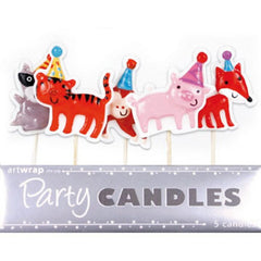 Animal Party Hats Candles