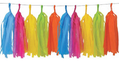 Tropical Rainbow Party Tassel Garland