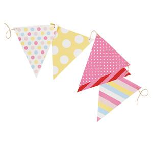 Paper Party Flags Pink