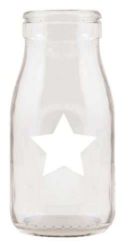 White Star Mini Glass Bottles