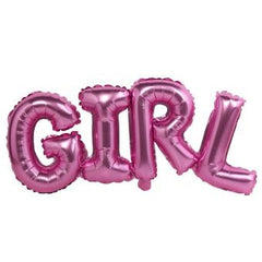 GIRL Pink Foil Balloon