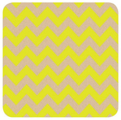 Kraft Yellow Chevron Table Runner