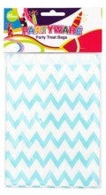 Blue Chevron Party Bags