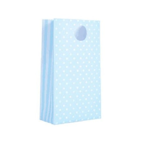 Powder Blue Spot Party Bags