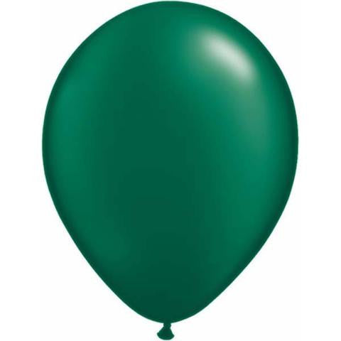 "5"" Forest Green Pearl Balloons"