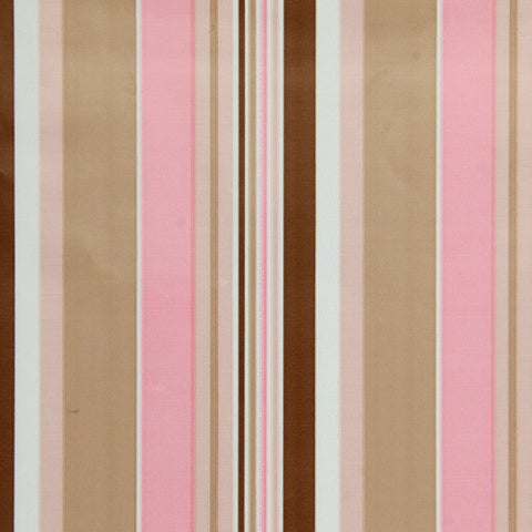Pink & Brown Stripe Table Runner/Wrap