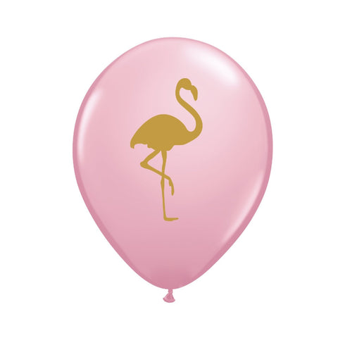 Pink with Gold Flamingo Balloons
