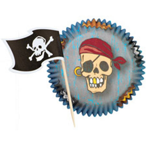 Pirate Cupcake Wrappers Kit
