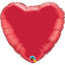"36"" Red Heart Foil Balloon"