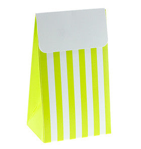 Lime Stripe Party Treat Boxes
