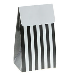 Black Stripe Party Treat Boxes