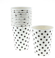 Black Polka Dot Cups